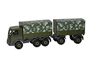 Polesie Polesie49155 Supertruck - Camión de Remolque con Lona Militar