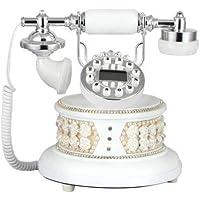 MATAQI Telefono pratico diamante applique stereo arte fatti a mano telefoni antichi aristocrazia europea telefonate