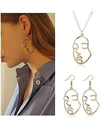 072592a899cc Picasso - Juego de Pendientes de Cara y Collar