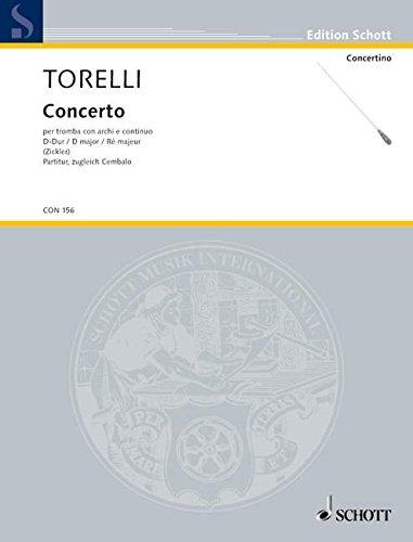 Concerto D-Dur: G 9. Trompete in D, Streicher und Basso continuo. Partitur. (Concertino)