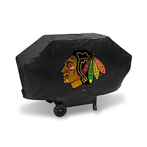 Rico NHL Grillabdeckung, Vinyl, gepolstert, Unisex-Erwachsene, NHL Chicago Blackhawks Deluxe Grill Cover, Black, 68 x 21 x 35, schwarz, 68 x 21 x 35 -
