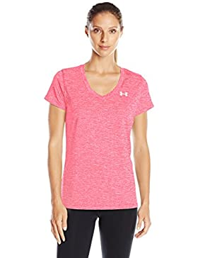 Under Armour Tech SSV Twist Camiseta Deportiva, Women, Rosa, MD