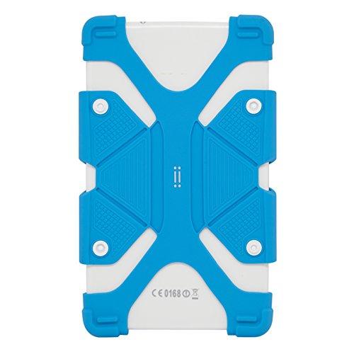 AIINO - Custodia In Silicone HUG I Cover Universale Per Tablet Da 7.9'' a 9'' I Materiale Anti-Shok I Anti Scivolo I Protegge Da Urti E Graffi - Blue