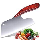 Promithi Effort Saving Küchenmesser, Japanischer Hochwertiger Edelstahl, Durchbruchsphysik-Design Edelstahl Scharfe Klinge und Hackmesser Metzger Fleisch Gemüseschneiden Fleischmesser