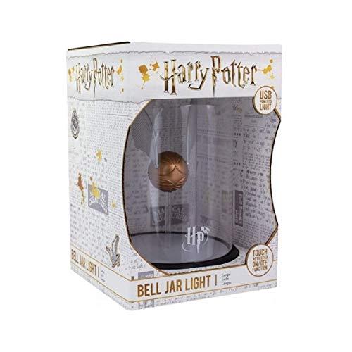 41dxJmIYQhL - Harry Potter Lámpara Snitch Dorada