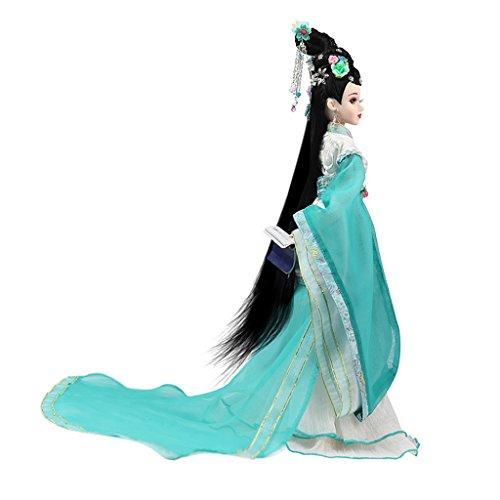 MagiDeal Elegante Orientalische Antike Kostümpuppe Gelenke Puppe im Chinesische alte Song-Dynastie-Stil Kleidung - # 2
