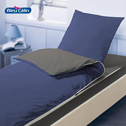 Kit de couchage caradou pour lit 1 place (Indigo/Graphite)