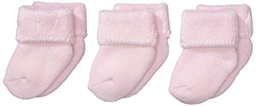 Sterntaler Baby - Mädchen Socken Erstlingssöckchen, 3Er Pack, Einfarbig, Gr. Neugeborene, Rosa (Rosa 702) (Baby-socken Neugeborene)