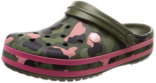 crocs Unisex-Erwachsene Crocband Seasonal Graphic Clogs, Grün (Army Green/Melon 3s9), 41/42 EU