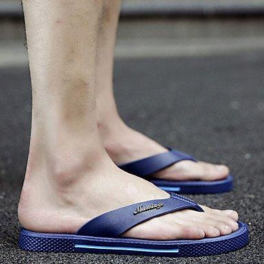 Sandali con tacco Walking Slippers & Estate Comfort PU esterna piani degli uomini sandali US8 / EU40 / UK7 / CN41