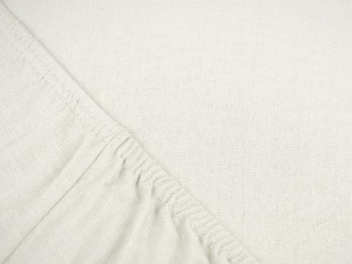 npluseins klassisches Jersey Spannbetttuch - erhältlich in 34 modernen Farben und 6 Verschiedenen Größen - 100% Baumwolle, 70 x 140 cm, Perlmutt - 4