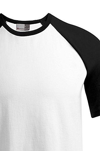 Raglan T-Shirt Herren Weiß-Schwarz
