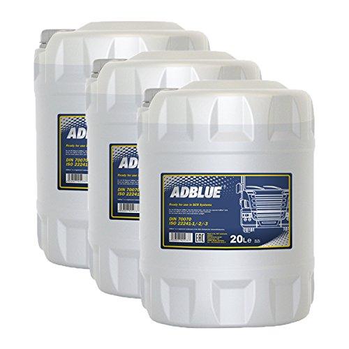 3x MANNOL MN3001-20 ready-to-use AdBlue Zusatz zur Abgasreinigung Harnstofflösu