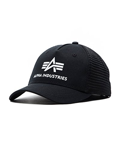 Alpha Industries Damen Trucker Caps Basic, Black, Einheitsgröße