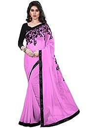 Tread India Chiffon Saree (Tread-Z_Pink_Pink)