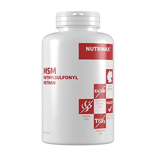 MSM Kapseln hochdosiert - 300 Kapseln - ohne Füllstoffe und Magnesiumstearat - hergestellt in Deutschland - Methylsulfonylmethan