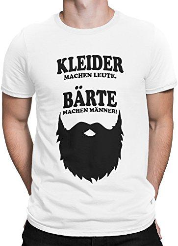 vanVerden Herren T-Shirt Kleider Machen Leute. Bärte Machen Männer, Größe:M, Farbe:Weiß