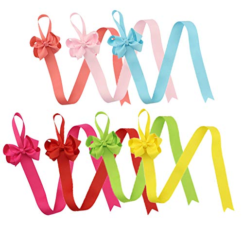 XUNHUI Haarschleifenhalter Organizer Zubehör Schleifen Schleifen Halter Haar Zubehör Clip Storage Belt 7 Stück -
