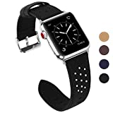 Fullmosa Compatible Bracelet Apple Watch 42mm 44mm(Serie 4) Cuir pour Homme Femme,...