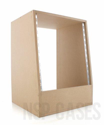 12U abgewinkelt 48,3cm Studio Rack–50cm tief–Holz Rack Sleeve MDF (Studio Rack Holz)