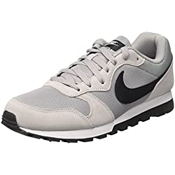 Nike Md Runner 2, Zapatillas de Running Hombre, Gris/Negro/Blanco (Wolf Grey/Black-White), 43