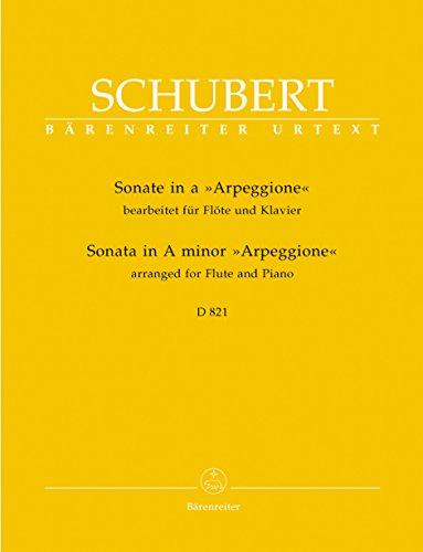 Sonate a-Moll D 821 'Arpeggione' -Bearbeitung für Flöte und Klavier-. Partitur, Stimmen, Urtextausgabe