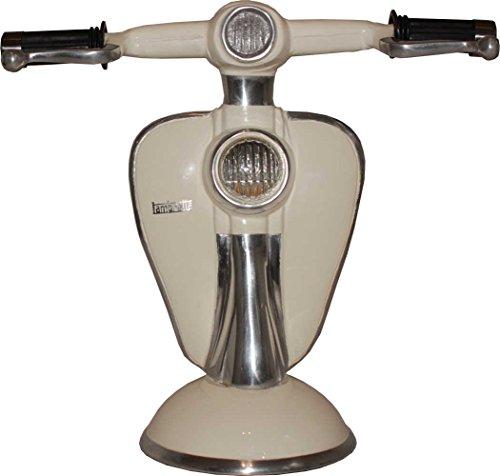 Motorroller Scooter Schreibtischleuchte Tischlampe creme 28x30cm