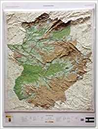 Mapa Relieve Extramudura 1:300000