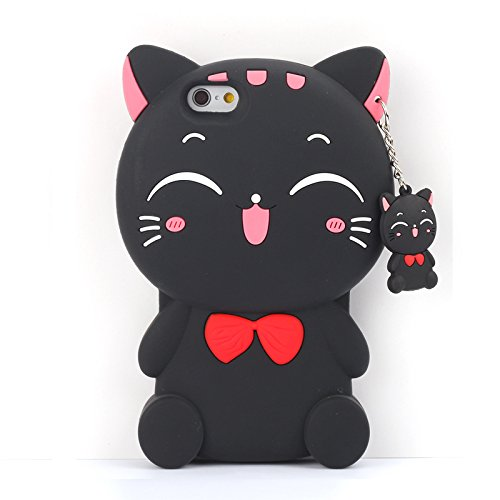 "Iphone 6 / 6S (4,7-Zoll) Hülle, Koala Group® 3D-Tiermodellen Silikon Fallschutz -Sets von ""Rainbow / weiße Katze / schwarze Katze / Love Cats / Burger Bear / Shy Affe (White Cat) Black Cat"