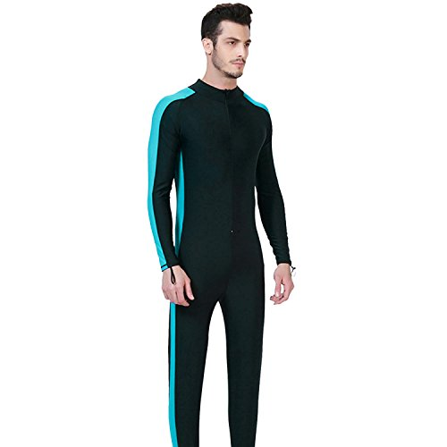 Männer Wetsuits Voller Körper Badeanzug Sport Skins Swim Suit Volle Deckung mit Langen Beinen, Langen Ärmeln