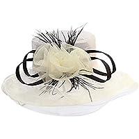 Fengdp Sombra Gran Flor de Verano Sombreros de Sun for el Partido Playa de Las Mujeres de té Rosado Sombrero Grande Elegante de Las señoras de Ancho Elegante Sombreros de Sun Headwear niña