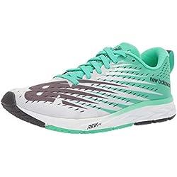 New Balance 1500v5, Zapatillas de Running para Mujer, Blanco (White/Neon Emerald Wg5), 36 EU
