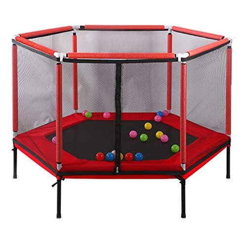 Mini-Trampolin - Kinder-Indoor-Trampolin - Mit Sicherheitsschild - Gartentrampolin - Outdoor-Trampolin - HäLt 100 Kg Stand