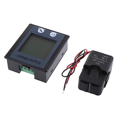 D DOLITY Medidor Digital de Voltaje Corriente Potencia Energía Multi-uso Pantalla de LCD, 80~260V AC, 50 / 60HZ Rango de 0~100A