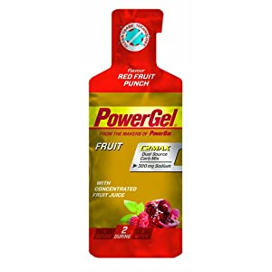 PowerBar PowerGel Red Fruit Punch, 6er Pack (6 x 41 g)