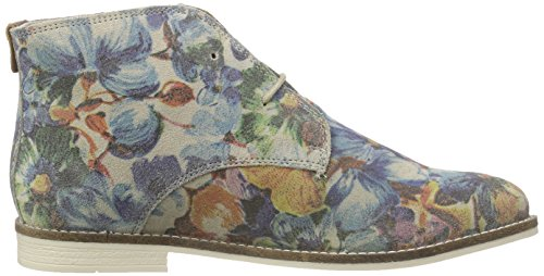 s.Oliver 25100, Bottes Desert courtes, doublure froide femme Multicolore - Mehrfarbig (FLOWER MULTI 989)
