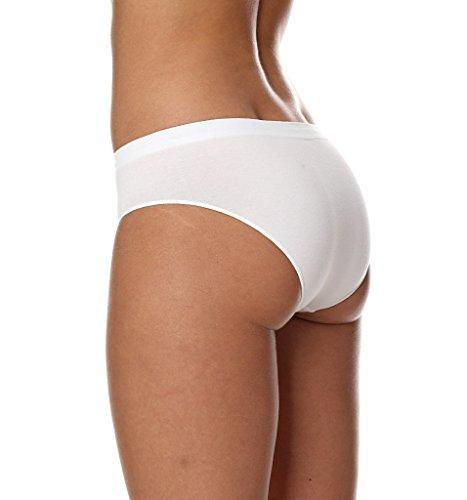 BRUBECK® HI00043 HIPSTER SLIPS 5x SET (Damen Funktionswäsche Nahtlos Formstabil Atmungsaktiv Fusselfrei) White / A