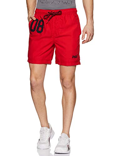 Superdry Water Polo Swim Short Pantalones Cortos, Rojo Flag Red Oxl, Medium para Hombre