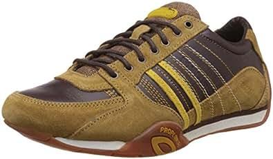 Woodland Men's Gc 1216112Y14 Brown Nubuck Leather Sneakers - 5 UK