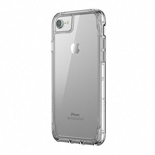Griffin Survivor Clear Case Schutzhülle nach Militärstandard für Apple iPhone 8/7/6S [Kratzfeste Beschichtung I Dünnes Design I Stoßdämpfende Ecken I Qi kompatibel] (transparent) - TA43828 Griffin Haut
