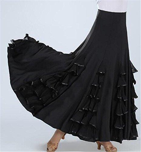 Gonne da ballo da ballo per donna / ginnastica da ballo valzer gonne / spettacoli teatrali , black , xxl