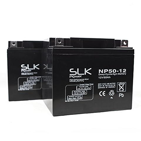 Batterien für Elektromobil, Rollstuhl, 50 ah, 12 V, 1 Paar
