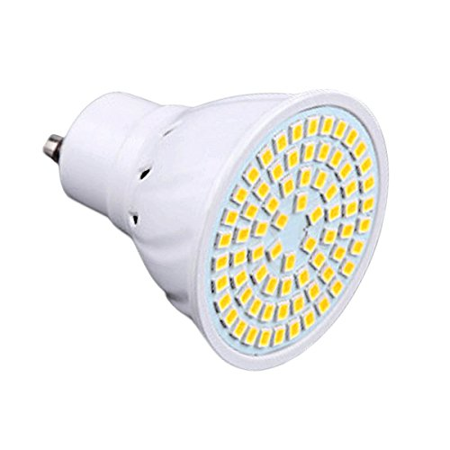 JIALUN-LED GU10 72LED 7W 2835SMD 600-700Lm 4000-4500K Proyector LED blanco natural CA...