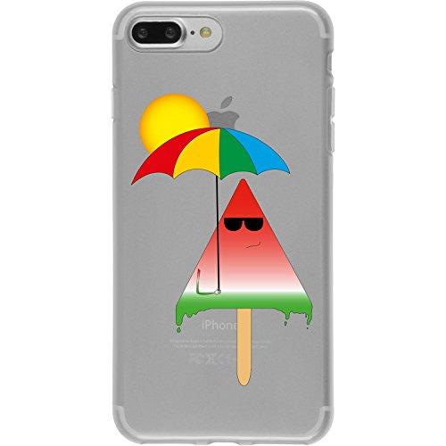 PhoneNatic Case für Apple iPhone 7 Plus Silikon-Hülle Sommer Eis M6 Case iPhone 7 Plus Tasche + 2 Schutzfolien Motiv 6: Eis