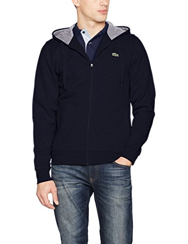 Lacoste Sport - Sweat-shirt àCapuche Homme - Multicolore (Marine/Argent Chine) - Small (Taille Fabricant : 3)
