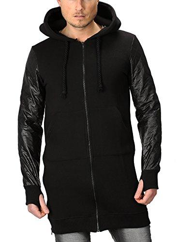 Veste de survêtement à capuche VSCT Homme Noir Hommes Capot Mince Fit Noir