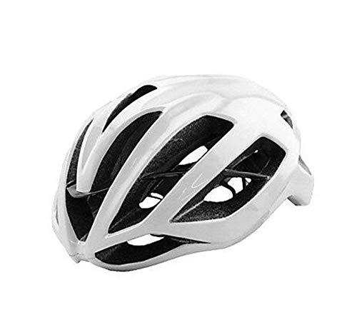 MEEX Ultraleichter Fahrradhelm mit Integriertem ABS Keel Skelett Reithelm, KASK Racing Helm, 55-64 cm, schwarz-weiß