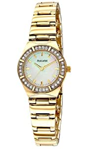 Accurist Women's Quartz Watch with Mother of Pearl Dial Analogue Display and Gold Stainless Steel Bracelet Lb1760P