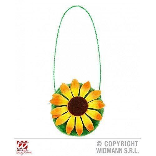 Lively Moments Sonnenblume Handtasche mit Reißverschluss (Blumenkind Kostüm Zubehör)