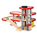 PlanToys - PT6227 - Jouet en bois - Le parking - garage avec ascenseur, Plan City